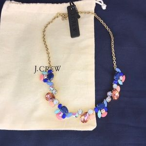 J. Crew NWT Multi colored gem necklace statement